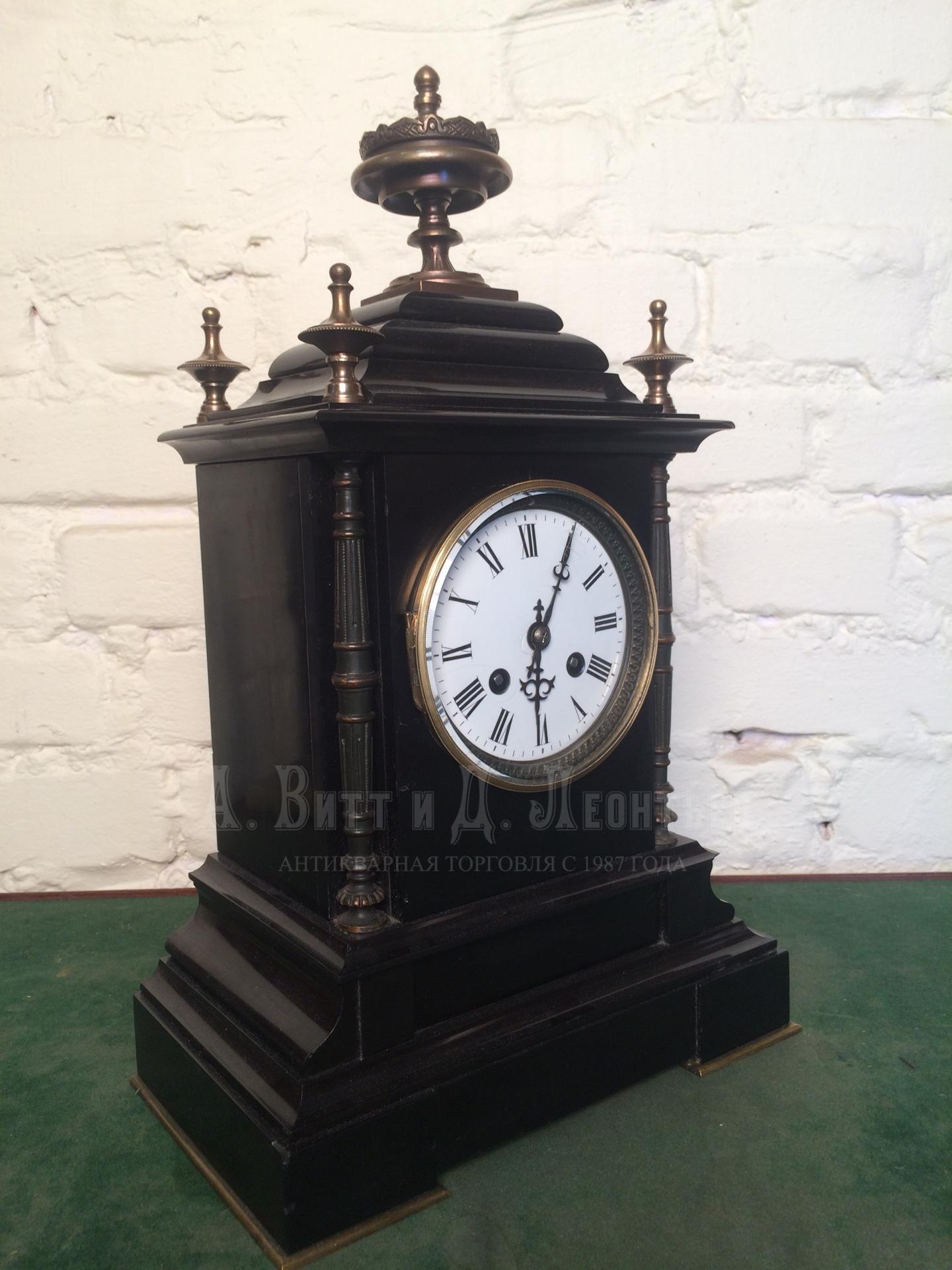 fc95dba5 Антикварные каминные, каретные часы - Настольные часы в черном камне